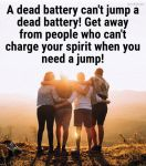 A dead battery quote